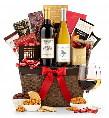 Wine Baskets: First Impressions Wine & Chocolate Basket