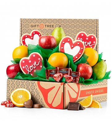 Fruit Baskets: Sprinkled with Love Fruit and Cookies Gift