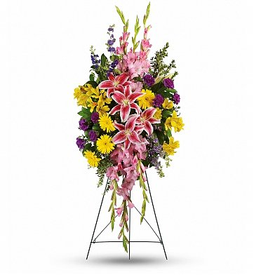 Funeral Flowers: Rainbow of Remembrance