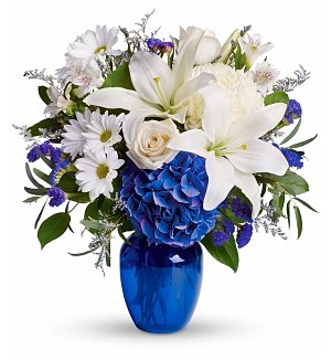 Flower Bouquets: Beautiful in Blue Bouquet