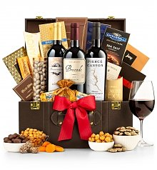Wine Baskets: Wine Tasting Trio & Chocolates