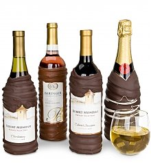 Wine Gifts: Chocolate-Dipped Wine