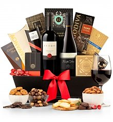 Wine Baskets: The 5th Avenue Wine Gift Basket