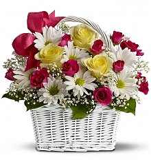 Flower Bouquets: Darling Daisy Basket