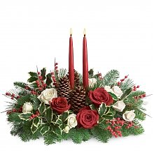 Flower Bouquets: Christmas Wishes Centerpiece