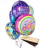 Balloons & Chocolate: Balloons & Chocolate-6 Mylar