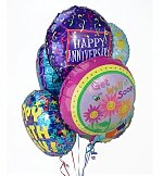 Balloons: Balloon Bouquet-Half Dozen Themed Mylar