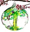 Home Decor: Tree of Enchantment Hand-Blown Glass Orb
